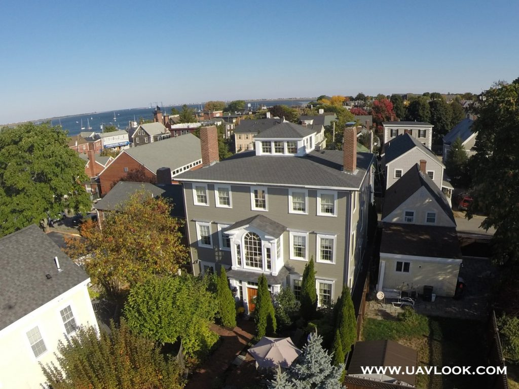 Aerial Picture of the Compass Rose Inn in Newburyport, Massachusetts
